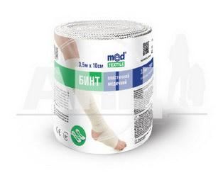 Бинт эластичный медицинский Medtextile средней растяжимости 3,5 м х 10 см