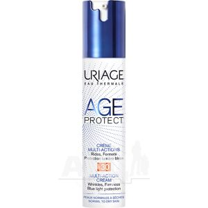 Многофункциональный крем для лица Uriage Age Protect Creme Multi-Actions SPF 30 лифтинг+увлажнение для нормальной и сухой кожи 40 мл