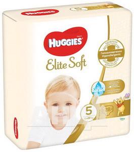 Подгузники детские гигиенические Huggies Elite Soft 5 (12-22кг) №28