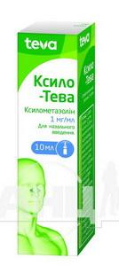Ксило-Тева спрей назальний 1 мг/мл флакон 10 мл з дозатором