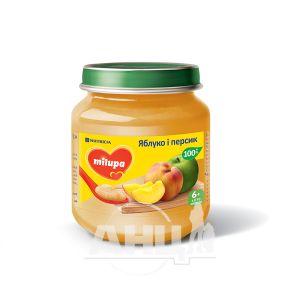 Пюре дитяче фруктове яблуко та персик Milupa з 6 місяців 125 г