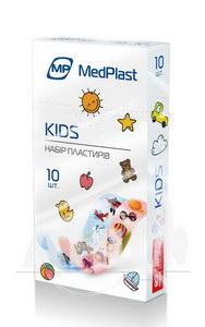 Набір пластирів МР MedPlast першої медичної допомоги кідс №10
