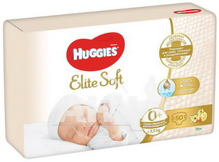 Підгузки Huggies Elite Soft 0 + №25