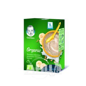 Каша Gerber Organic молочная пшенично-овсяная банан 240 г