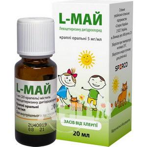 L-май капли оральные 5 мг/мл 20 мл