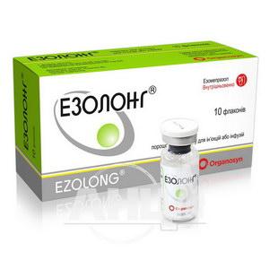 Езолонг порошок для розчину для ін'єкцій або інфузій 40 мг флакон №10