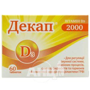 Декап 2000 таблетки блістер №60