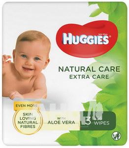 Вологі серветки Huggies natural care extra care №168