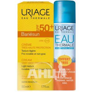 Набор Uriage Bariesun солнцезащитный крем SPF50+ 50 мл + термальная вода 50 мл