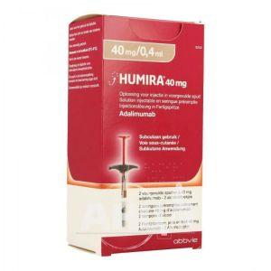 Хуміра розчин для ін'єкцій 40 мг/ 0,4 мл шприц у комплекті з серветками №2