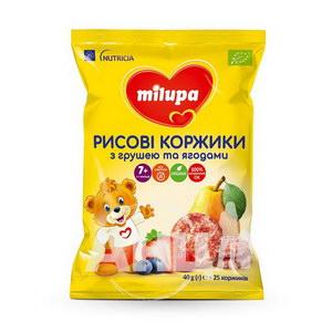 Рисовые коржики Milupa с грушей и ягодами 40 г