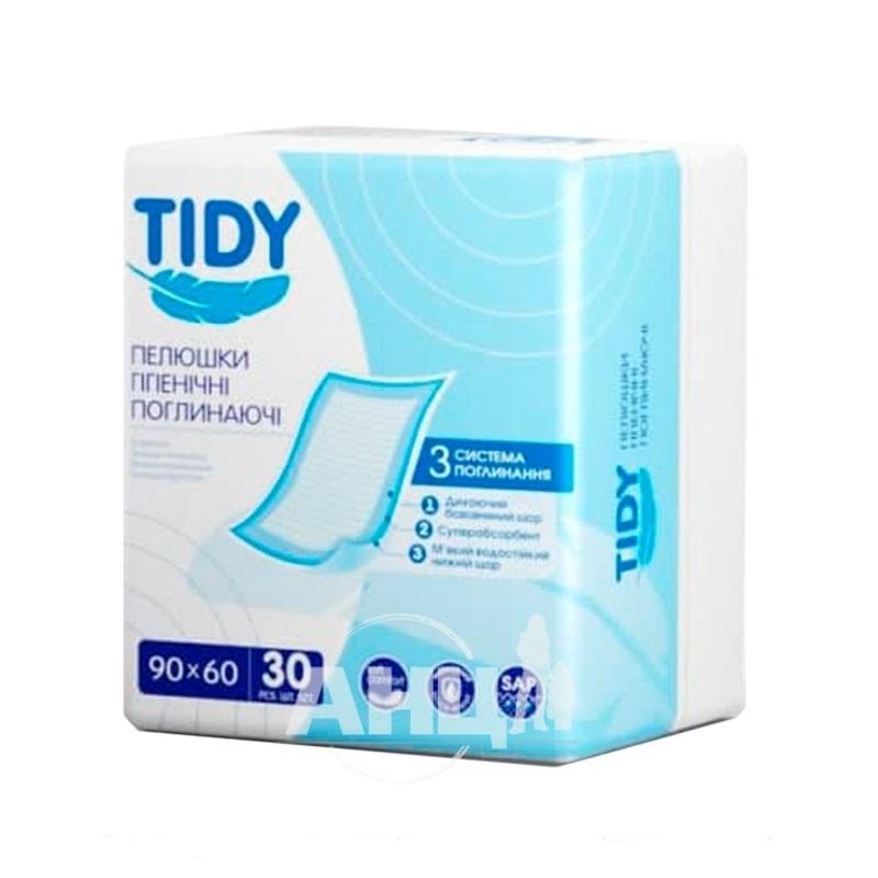 Пелюшки гігієнічні поглинаючі Tidy 60 см х 90 см №30 стм
