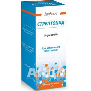 Стрептоцид порошок накожный 15 г