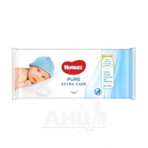 Влажные салфетки Huggies Pure Extra Care №56