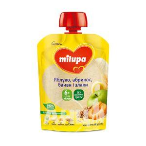 Пюре Milupa яблоко, абрикос, банан, злаки 80 г