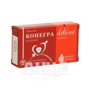Конегра Делюкс таблетки жувальні 100 мг блістер №4