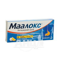 Маалокс таблетки для жевания блистер №20