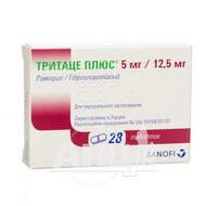 Тритаце плюс 5 мг/ 12,5 мг таблетки №28