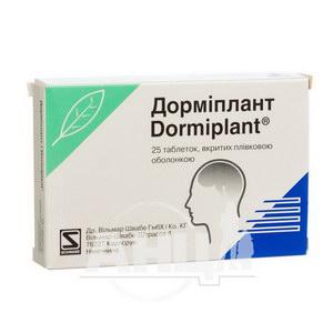 Дормиплант таблетки покрытые оболочкой блистер №25