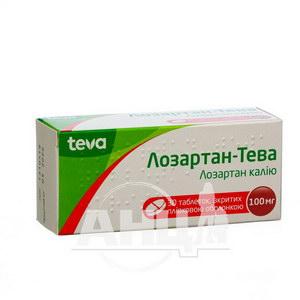 Лозартан-Тева таблетки покрытые пленочной оболочкой 100 мг блистер №30