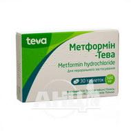 Метформін таблетки 500 мг блістер №30