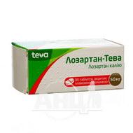 Лозартан-Тева таблетки покрытые пленочной оболочкой 50 мг блистер №90