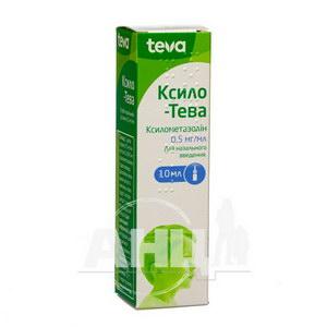 Ксило-Тева спрей назальний розчин 0,5 мг/мл флакон скляний з дозатором 10 мл