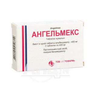 Ангельмекс таблетки жувальні 400 мг блістер №3
