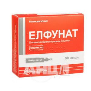 Елфунат розчин для ін'єкцій 50 мг/мл ампула 2 мл №10