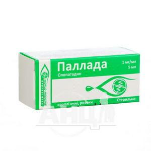 Паллада краплі очні розчин 1 мг/мл флакон-крапельниця 5 мл