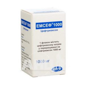 Емсеф порошок для розчину для ін'єкцій 1000 мг флакон №1