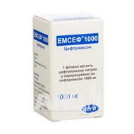 Эмсеф порошок для раствора для инъекций 1000 мг флакон №1