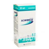 Азимед порошок для оральної суспензії 200 мг/5 мл флакон 30 мл