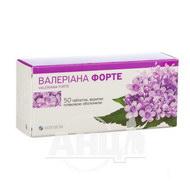 Валеріана Форте таблетки вкриті плівковою оболонкою 40 мг блістер №50