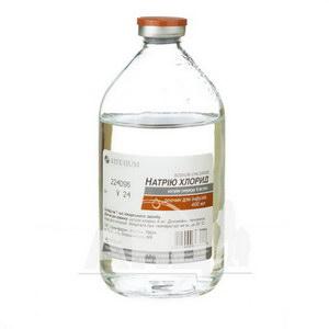 Натрію хлорид розчин для інфузій 9 мг/мл пляшка 400 мл