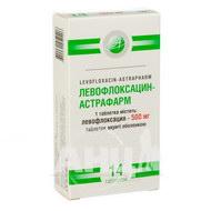 Левофлоксацин-Астрафарм таблетки покрытые оболочкой 500 мг блистер №14