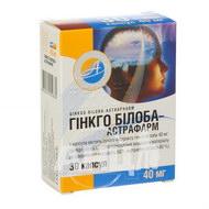Гінкго Білоба-Астрафарм капсули 40 мг №30