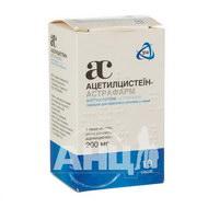 Ацетилцистеїн-Астрафарм порошок для орального розчину 200 мг саше №10
