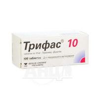 Трифас 10 таблетки 10 мг №100