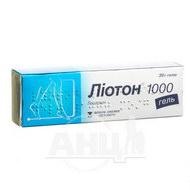 Ліотон 1000 гель туба 30 г