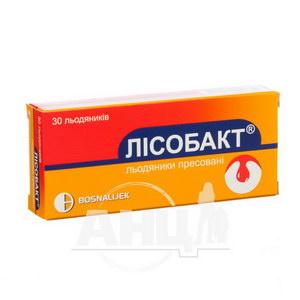 Лісобакт таблетки для розсмоктування блістер №30