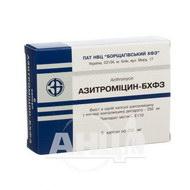 Азітроміцин-БХФЗ капсули 250 мг блістер №6
