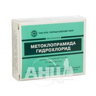 Метоклопраміду гідрохлорид розчин для ін'єкцій 0,5% ампула 2 мл №10