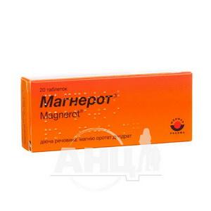 Магнерот таблетки 500 мг №20