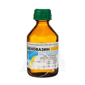 Меновазин розчин спиртовий для зовнішнього застосування флакон 40 мл