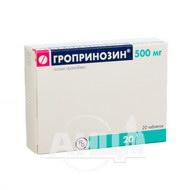 Гропринозин таблетки 500 мг блистер №20