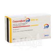 Глюкофаж XR таблетки пролонгованої дії 500 мг №60