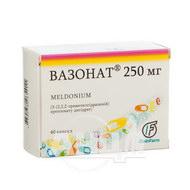 Вазонат капсули 250 мг №40