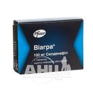 Виагра таблетки покрытые пленочной оболочкой 100 мг №1