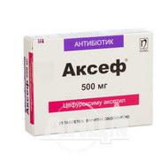 Аксеф таблетки вкриті оболонкою 500 мг №20